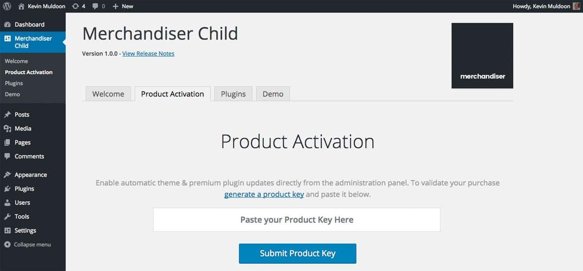 Merchandiser Product Activation