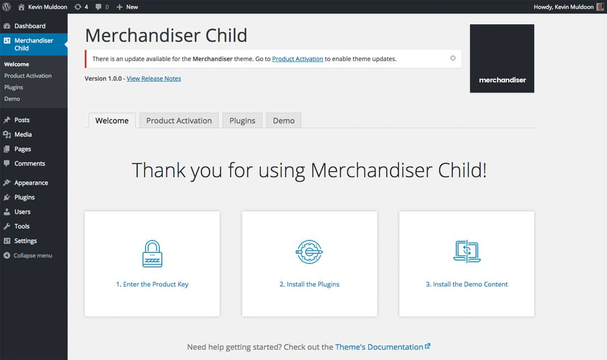 Merchandiser Welcome Page