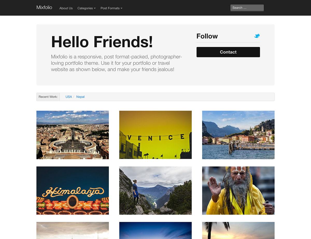 mixfolio-free-portfolio-theme