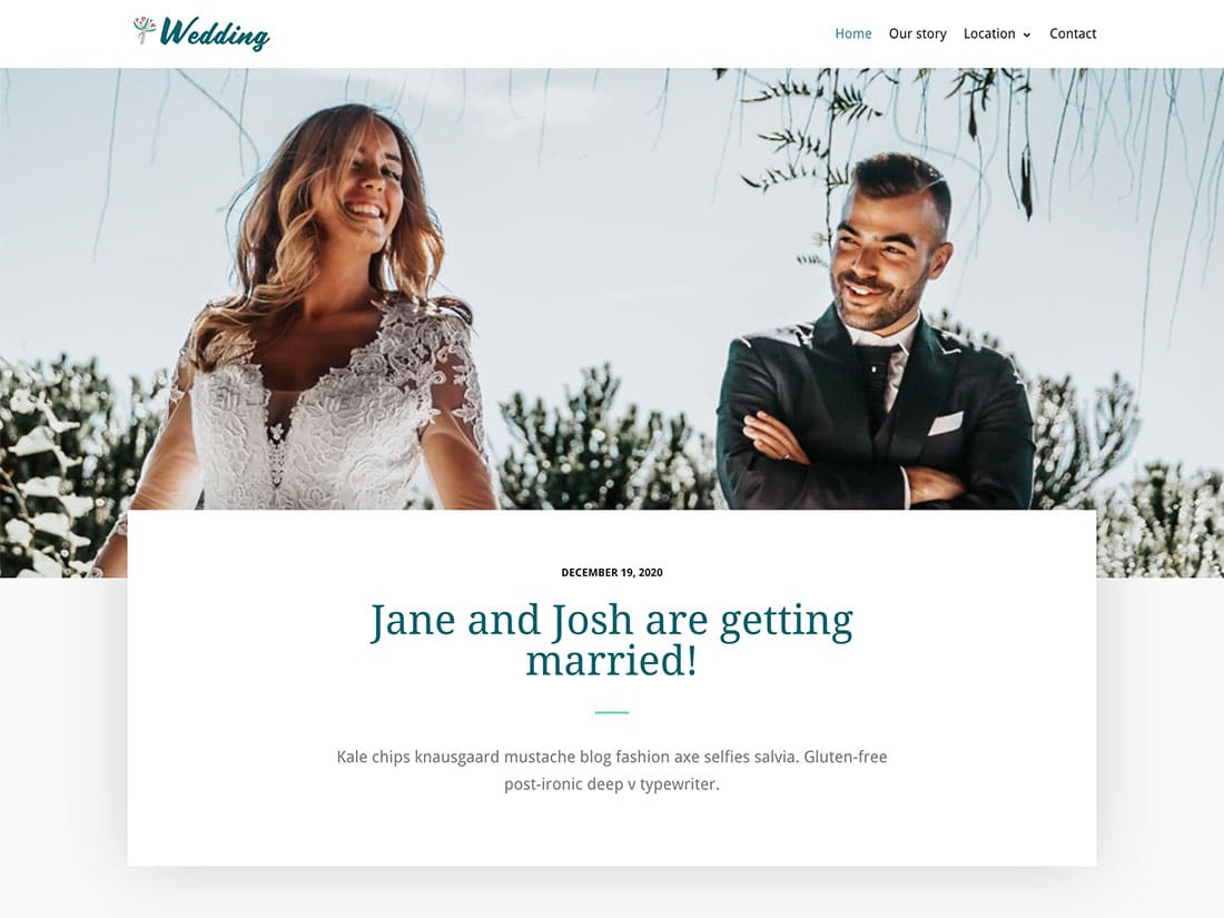 the best free wedding WordPress theme available on the web together. Neve
