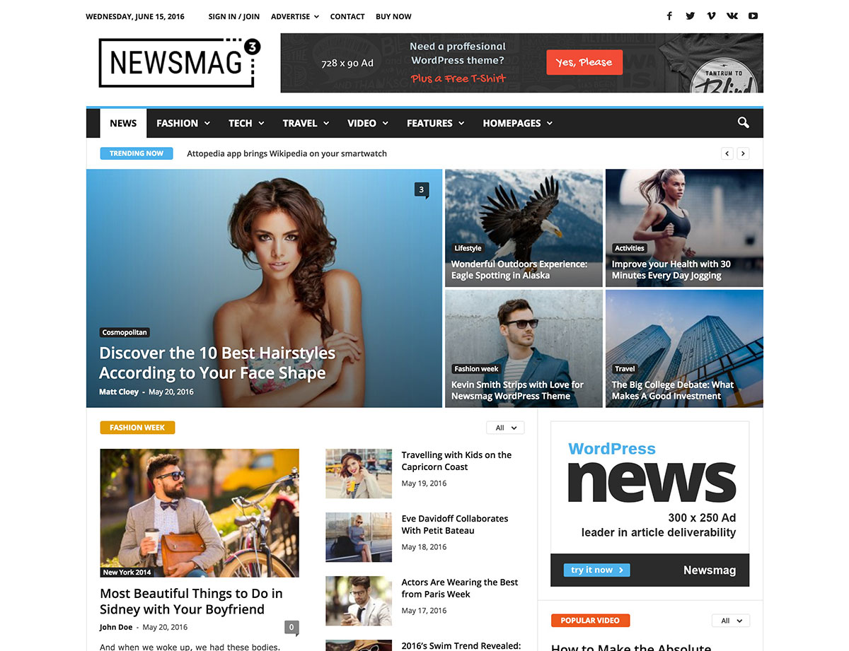 newsmag-wp-theme