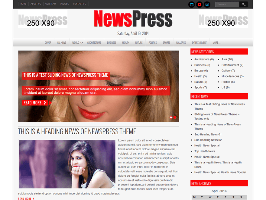 newspress lite theme