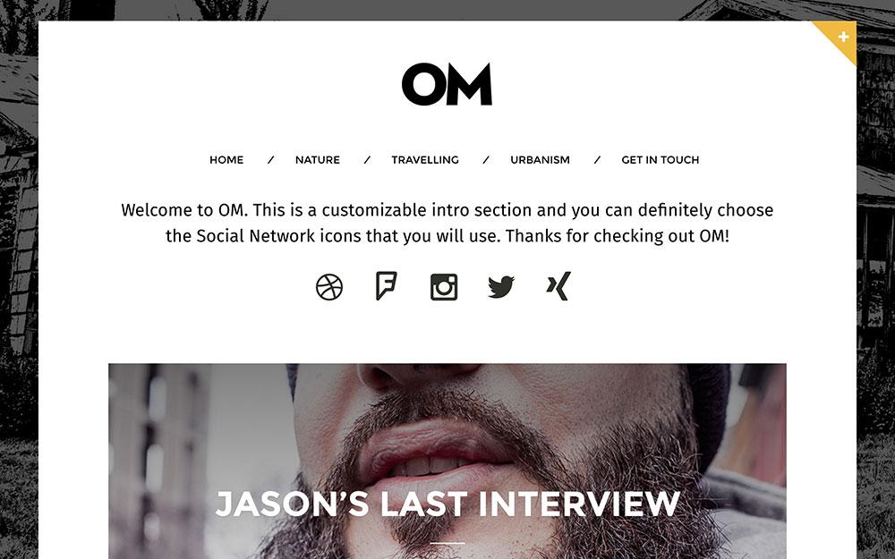 om-blogging-theme