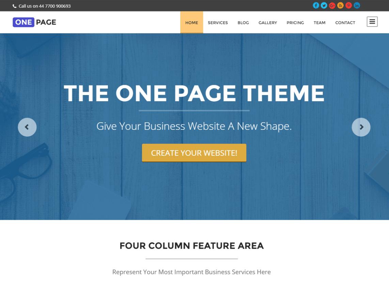 30 best free one page wordpress themes 2018 athemes