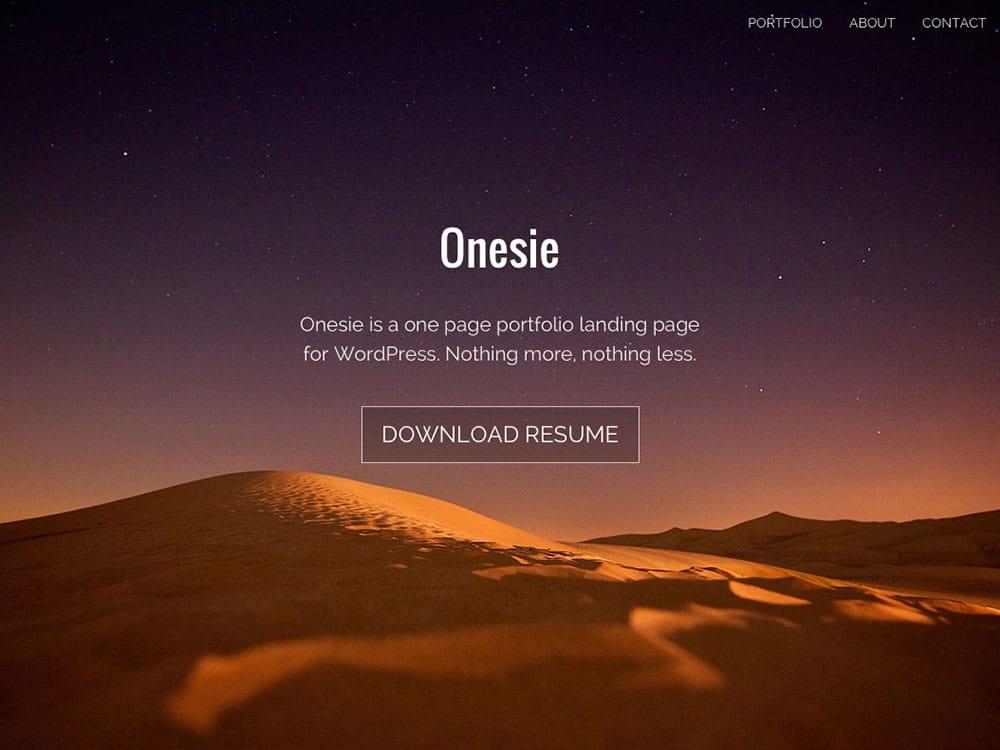 onesie-free-wordpress-theme