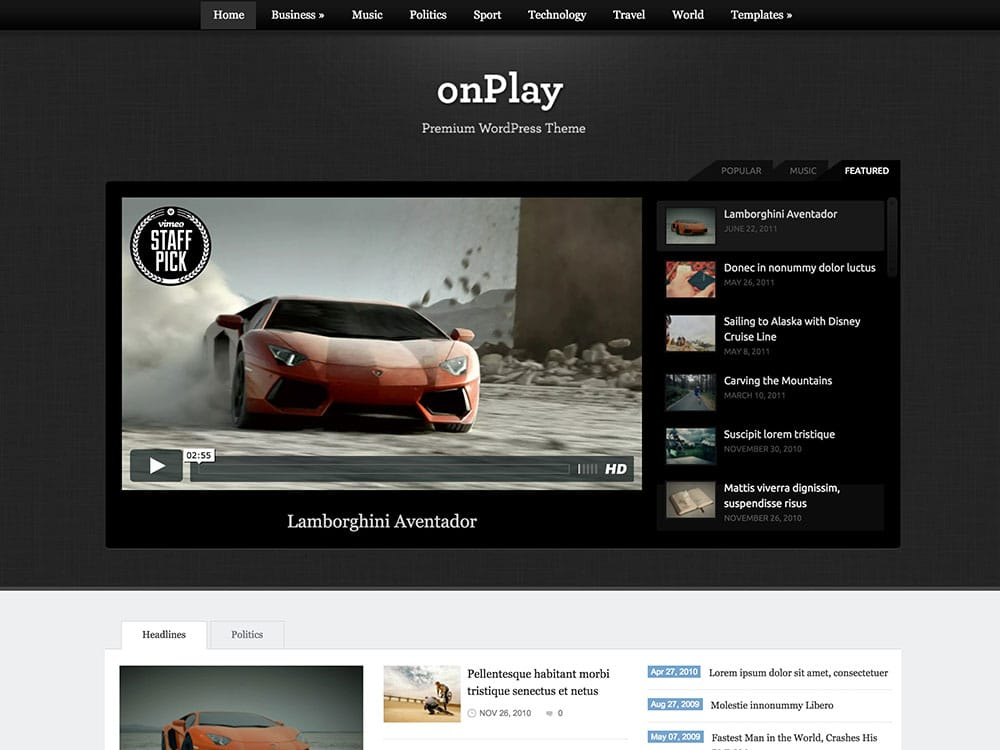 onplay-video-magazine-theme