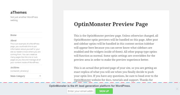 OptinMonster Footer Bar