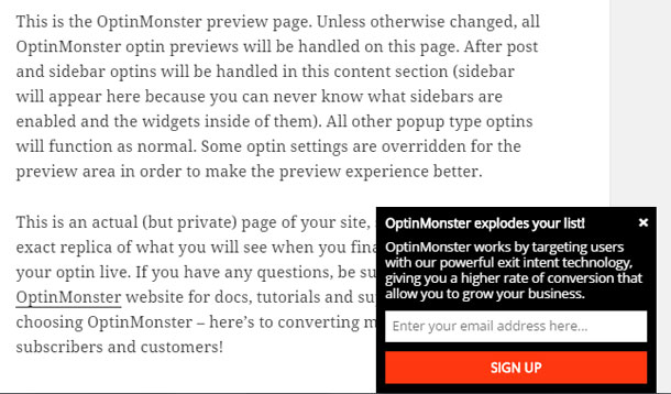OptinMonster Slide-In
