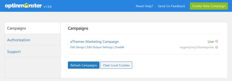 OptinMonster Campaign List