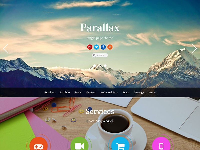 parallax-single-page-theme