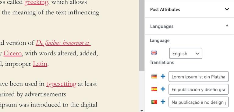 Post Translations
