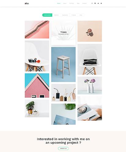 Portfolio template demo