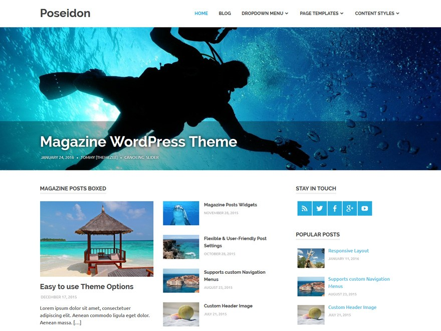 poseidon magazine wordpress theme