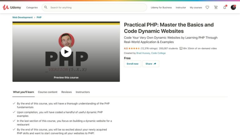 Practical PHP Udemy