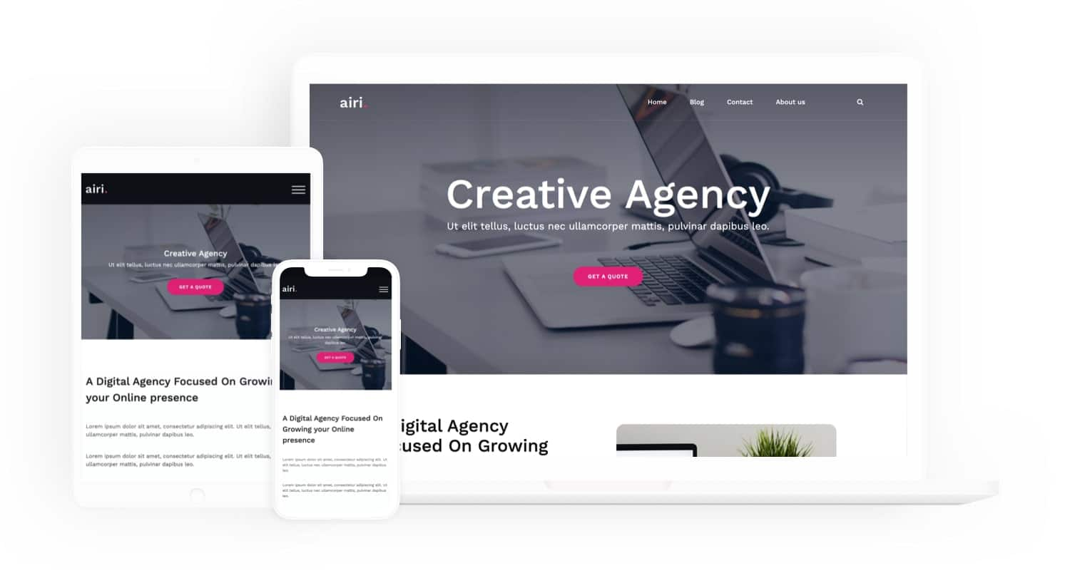 AIRI - powerful modern WordPress theme