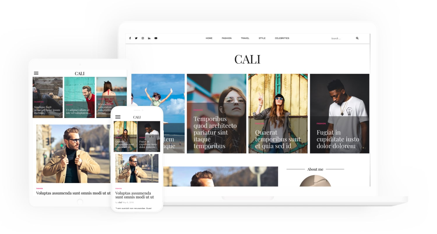 CALI - FREE WordPress Theme