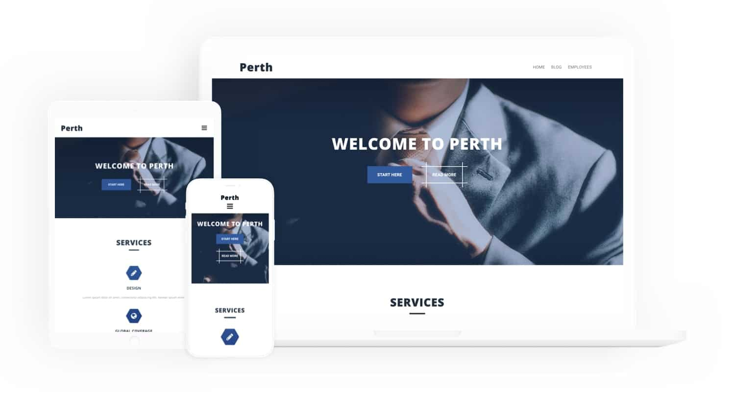 PERTH FREE WordPress Theme
