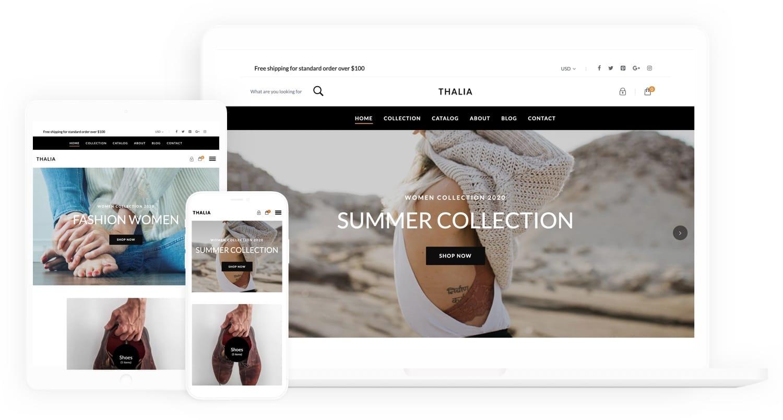 Thalia Free Shopify Theme - aThemes