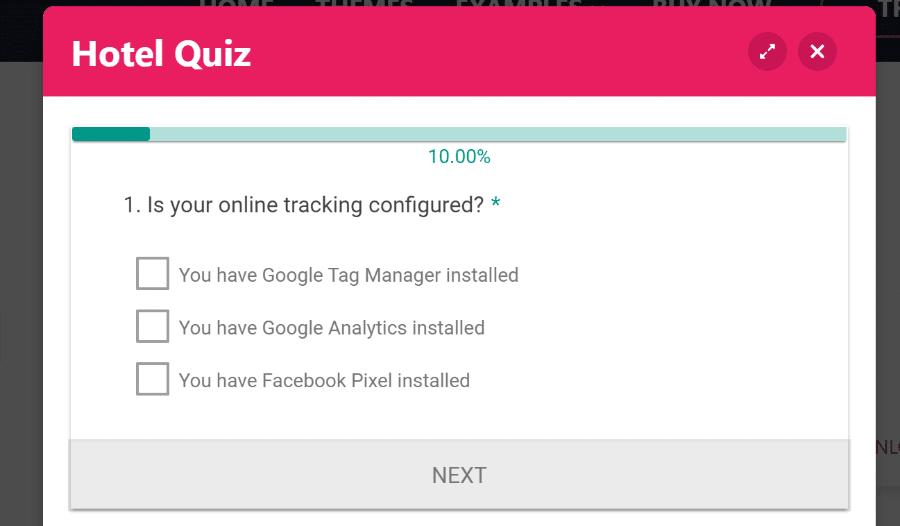 eform quiz example