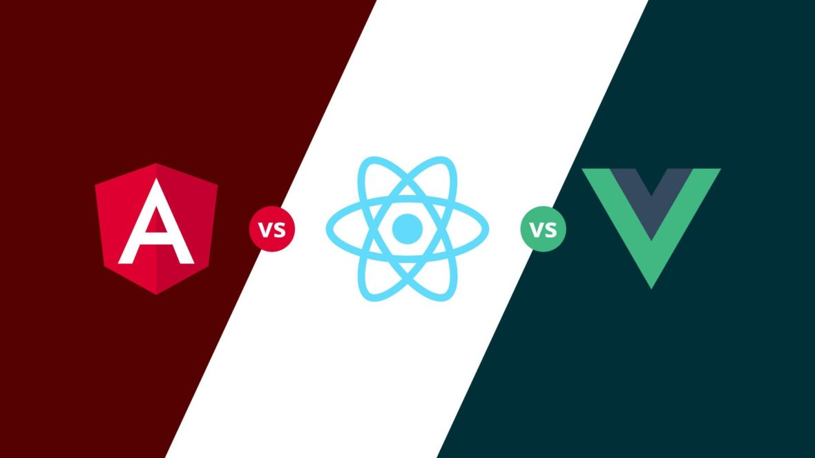 React vs Vue vs Angular, featured image