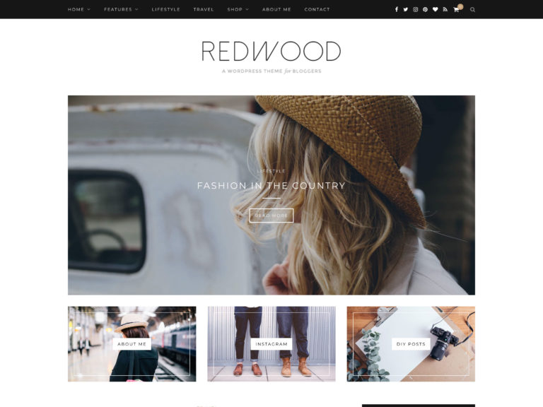 redwood-theme wordpress blog