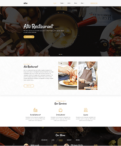 Restaurant template demo