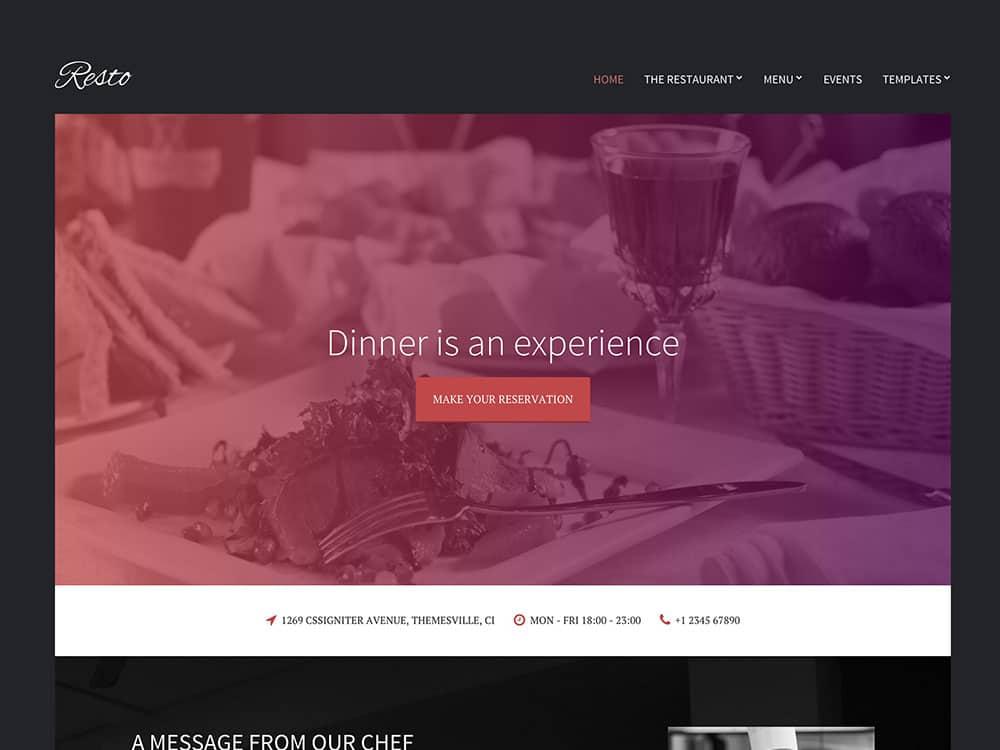 40 best wordpress restaurant themes 2018 athemes