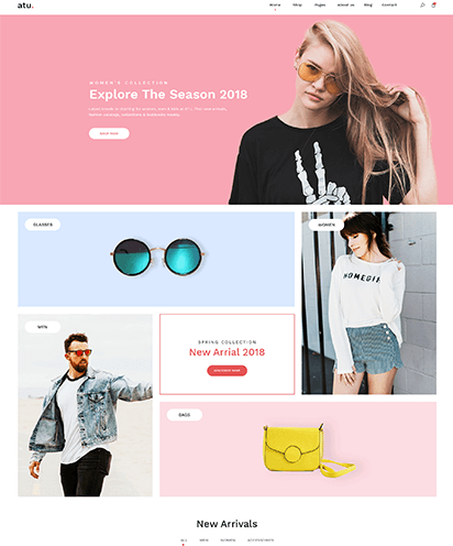 Shop template demo