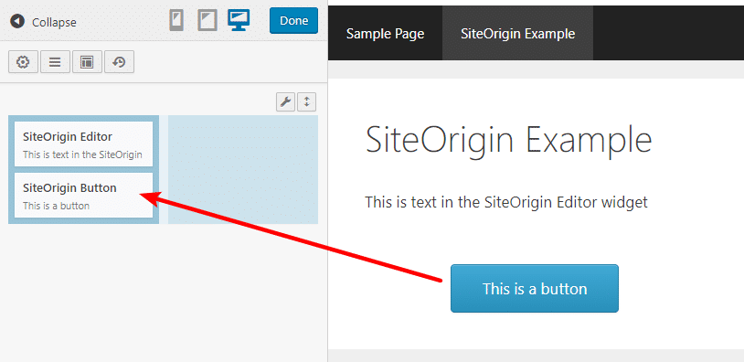 siteorigin live preview