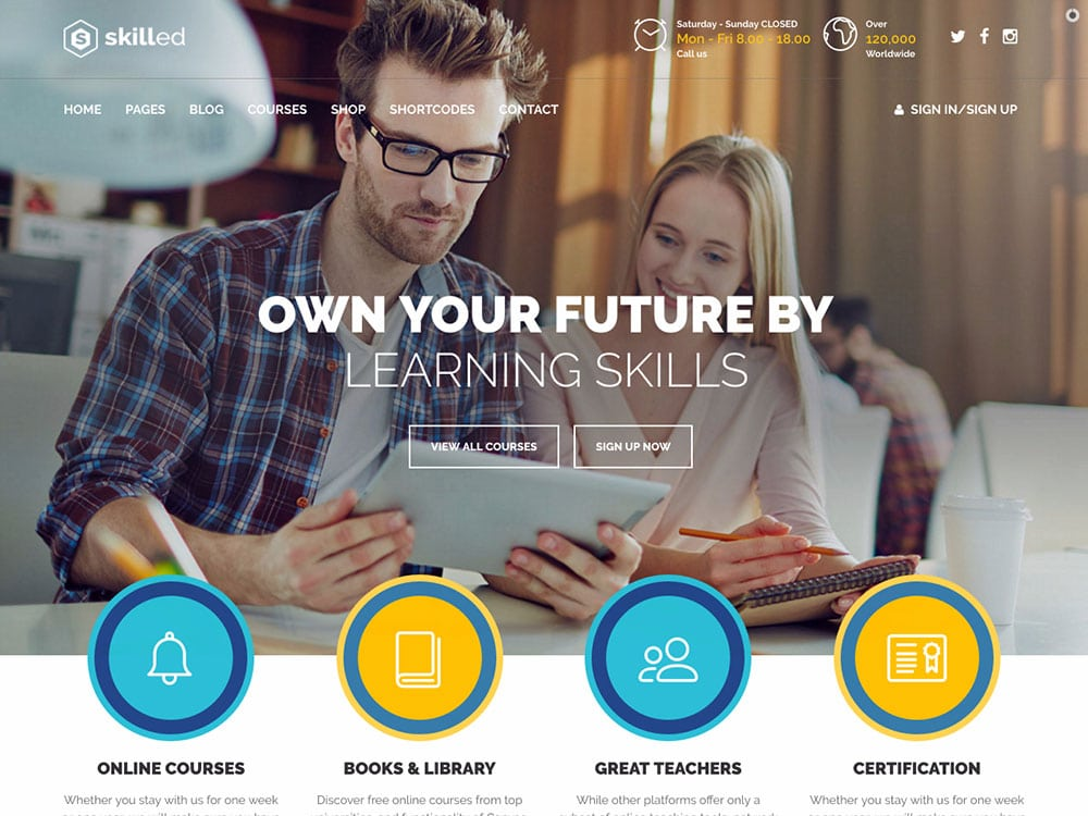 skilled-education-wordpress-theme