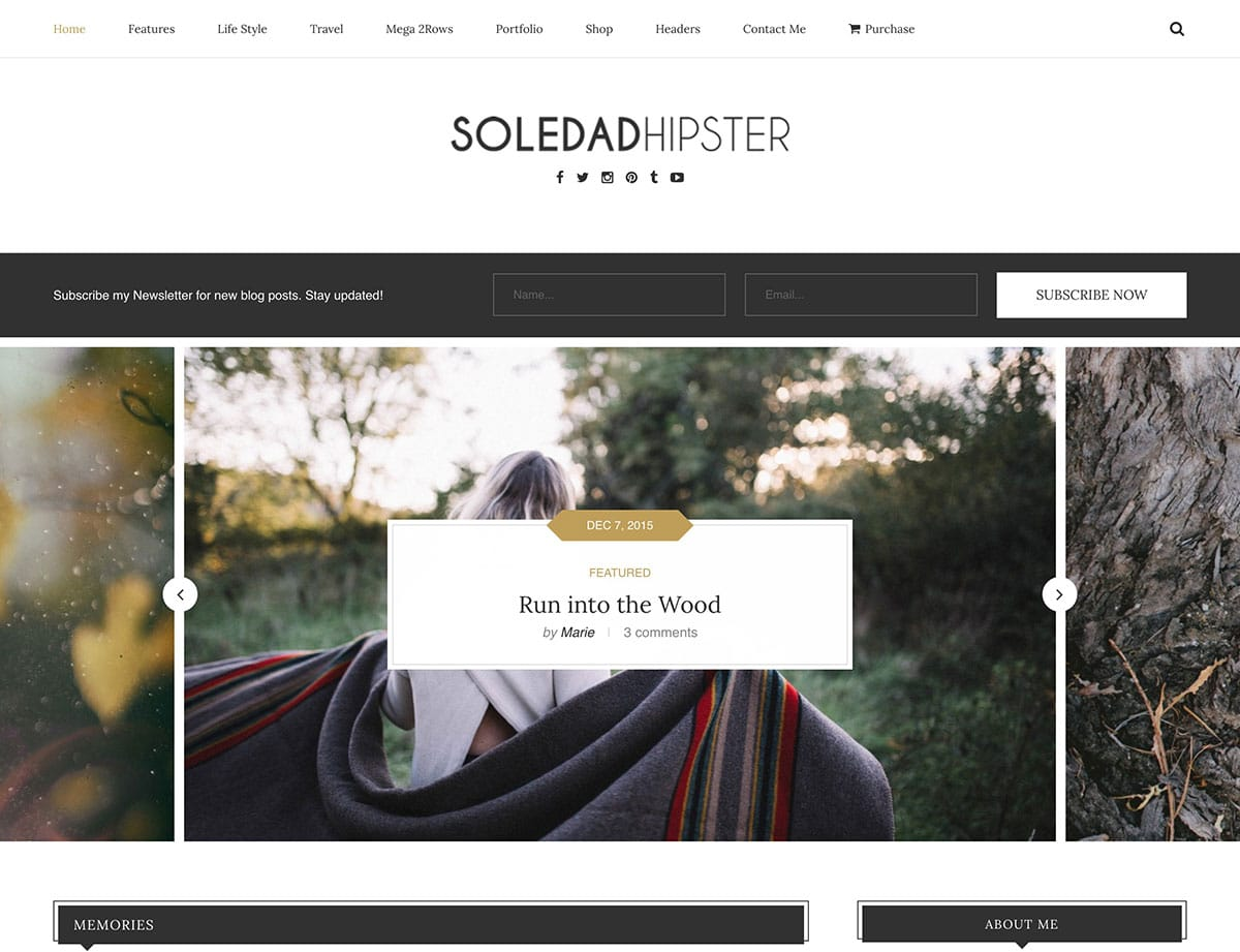 Soledad hipster- theme wordpress blog personnel