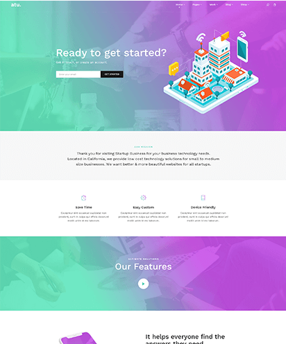 StartUp template demo