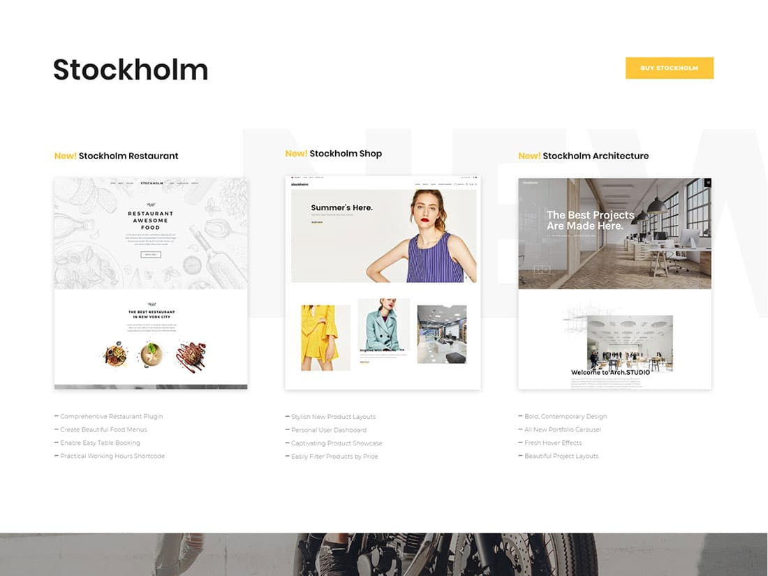 Theme wordpress Stockholm