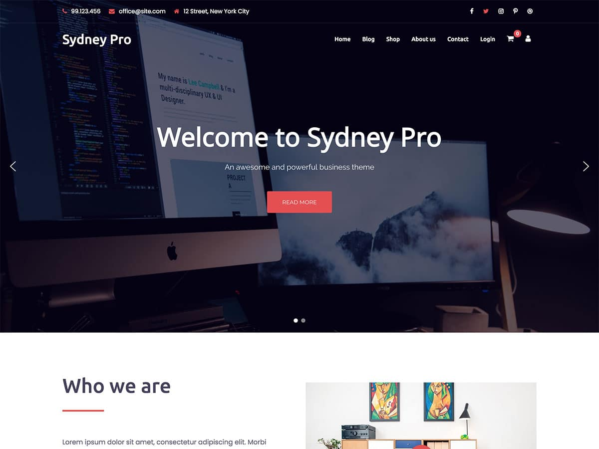 40 Best Business Wordpress Themes 2020 Athemes