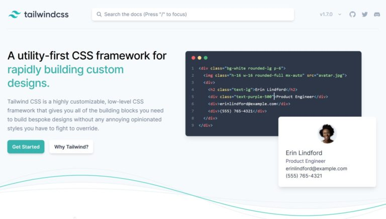 Tailwind CSS framework