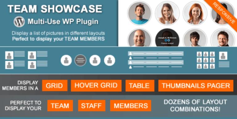 Team Showcase plugin