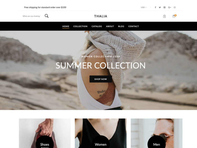 Thalia best Shopify theme