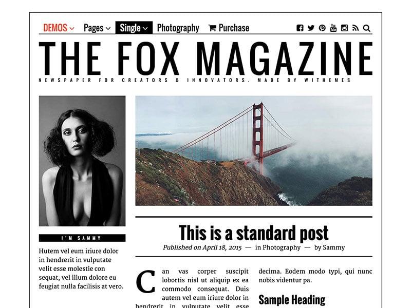 the-fox-magazine-theme