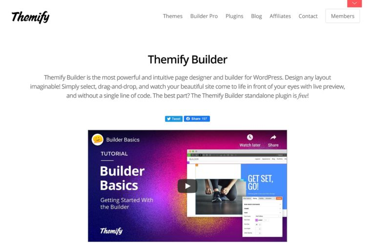 Themify Builder Home Page