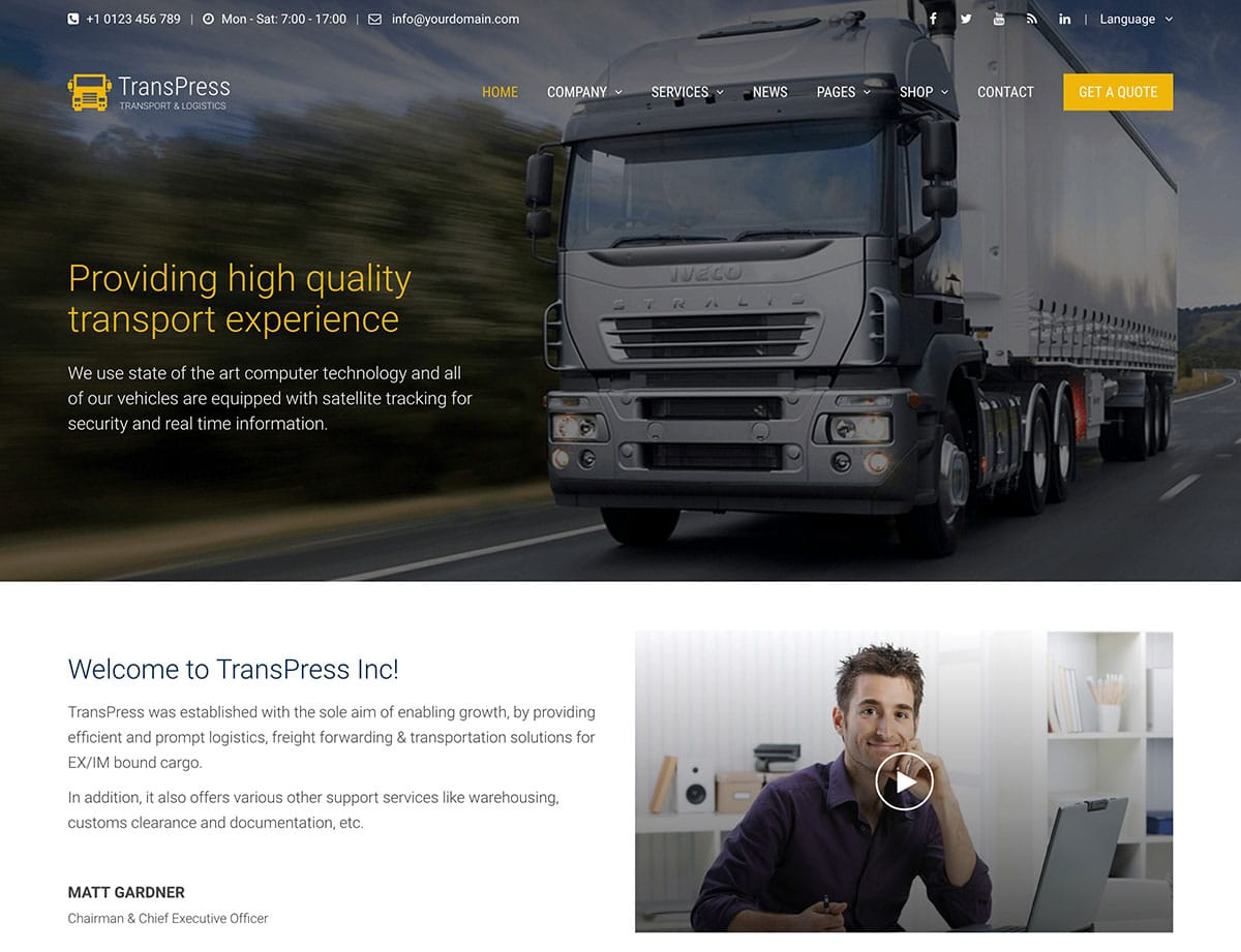 transpress-transport-theme