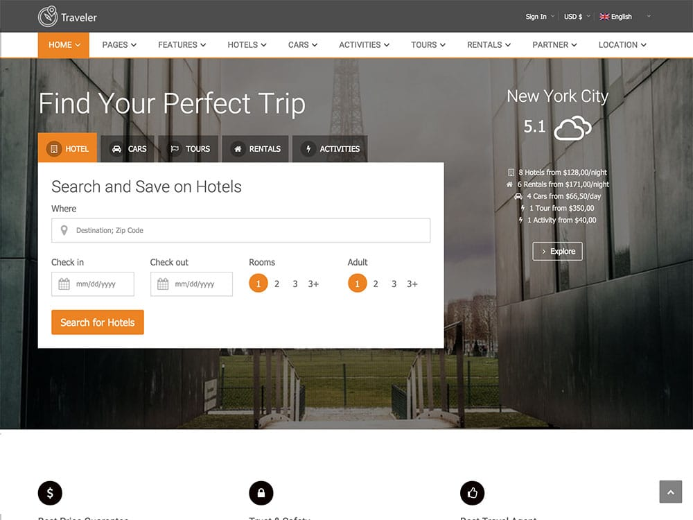 traveler-booking-wordpress-theme