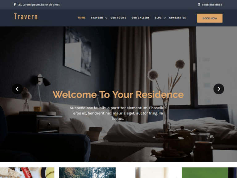 Tavern Free Hotel WordPress Theme