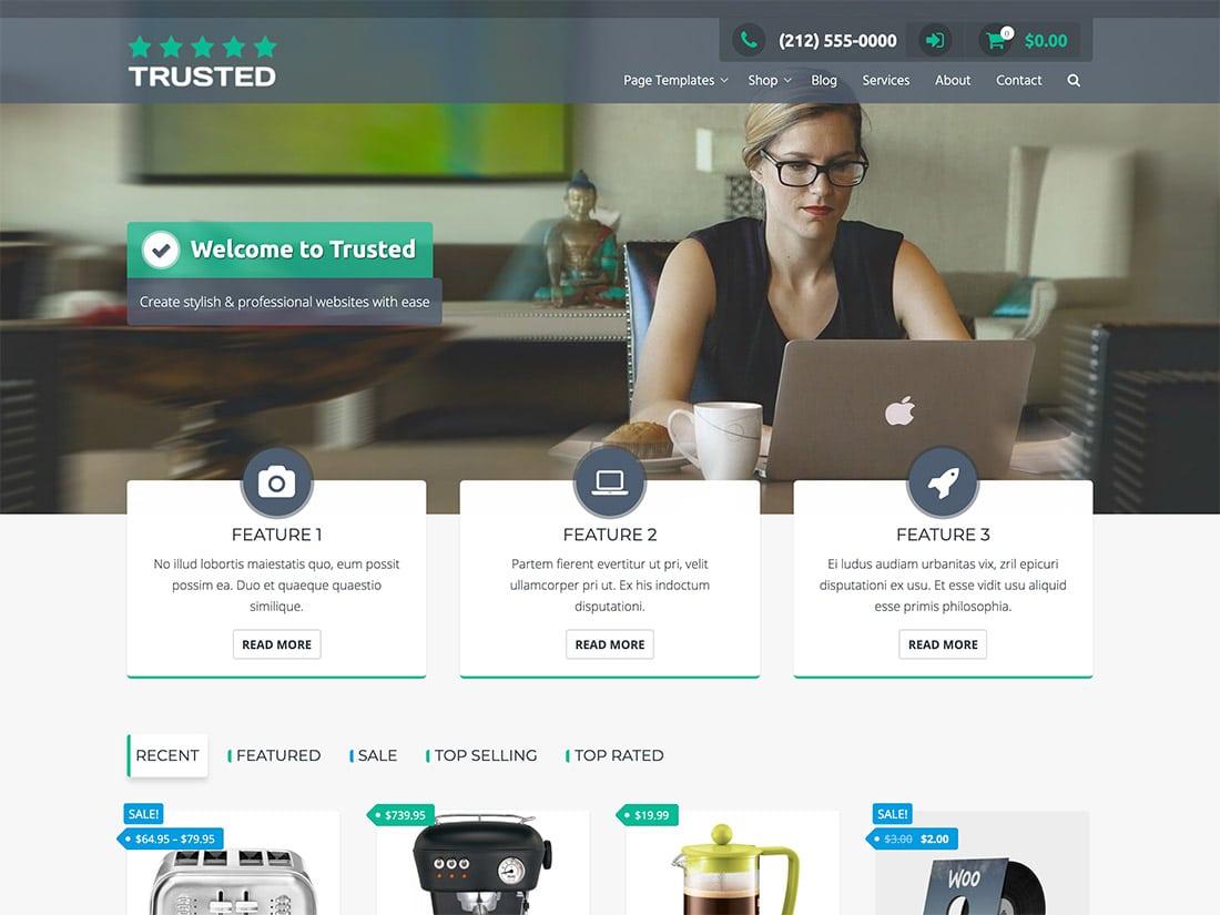 trusted free ecommerce wordpress theme
