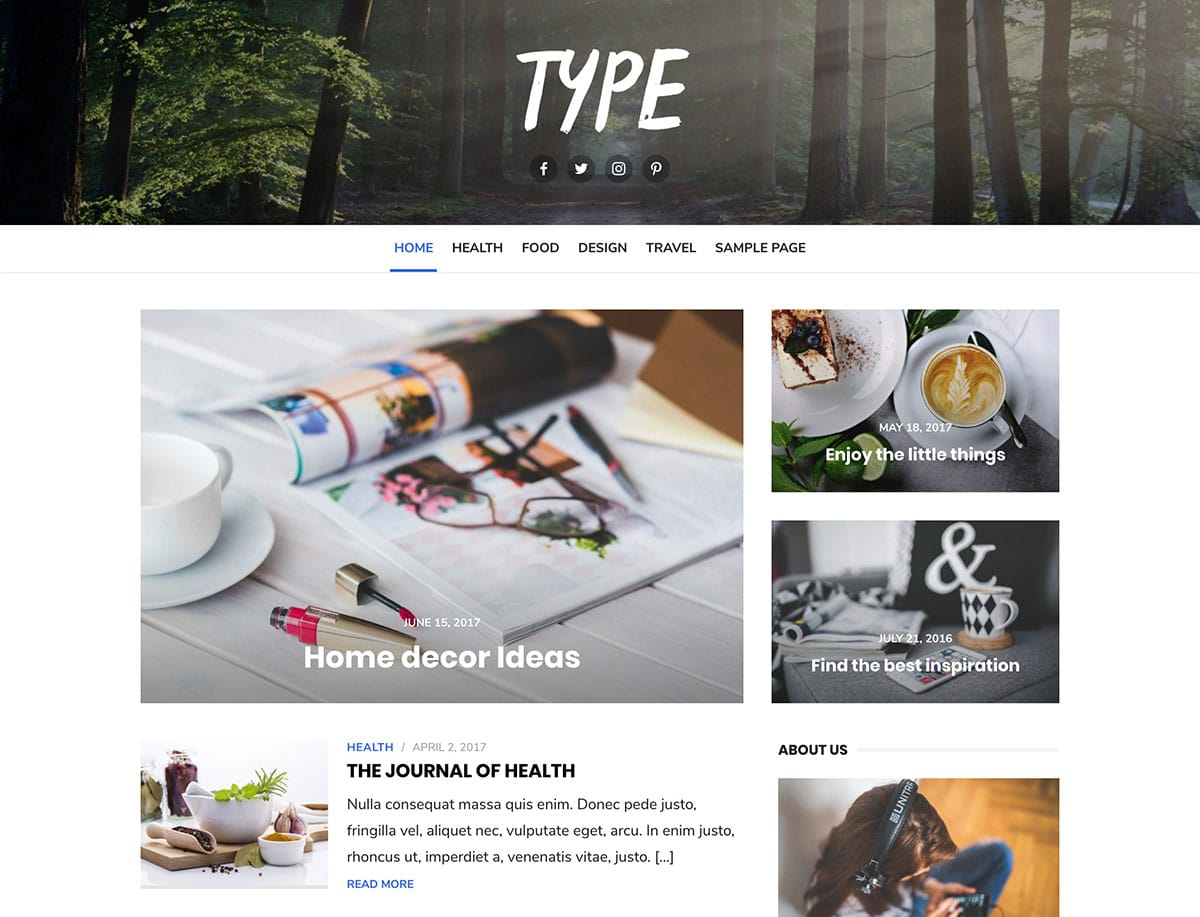 best free wordpress themes 2018 blog