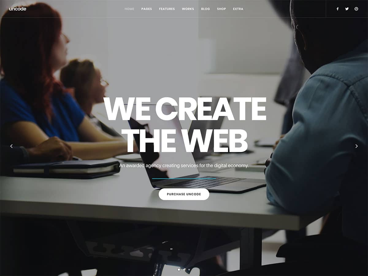 Unconde créative theme wordpress