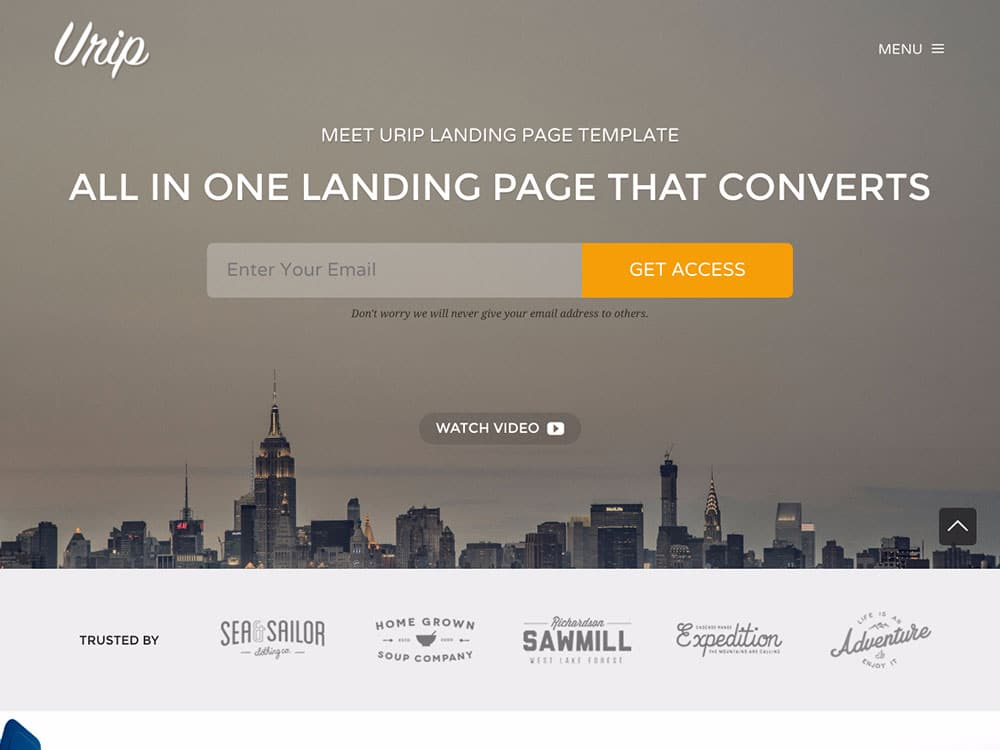 urip-wordpress-landing-page-theme