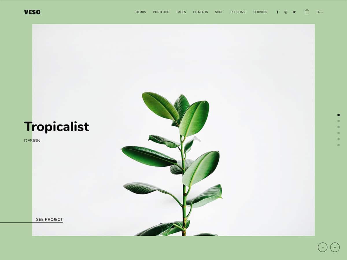 veso creative portfolio wordpress theme