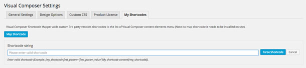 Visual Composer My Shortcodes