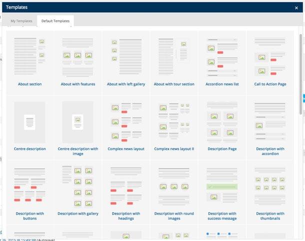 Visual Composer Template Box