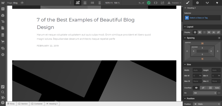 Webflow blogging
